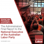 Administrators' Final Report to the National Executive of the ALP